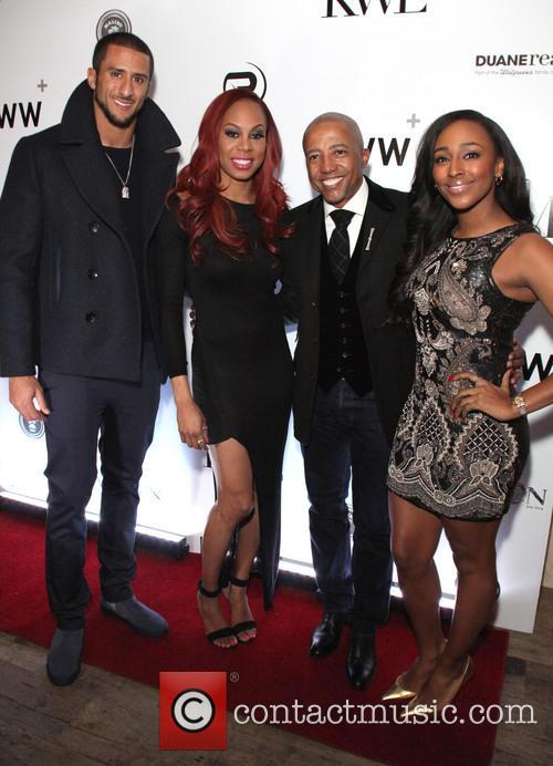 Alexandra Burke, Sanya Richards-ross, Kevin Liles and Colin Kapernick 3