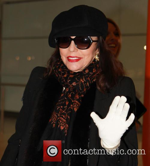 Joan Collins Heathrow