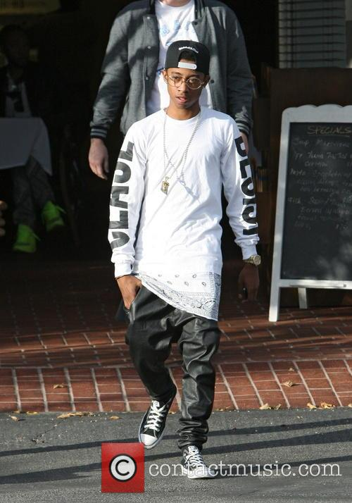 Rapper Lil' Twist seen leaving Fred Segal in...