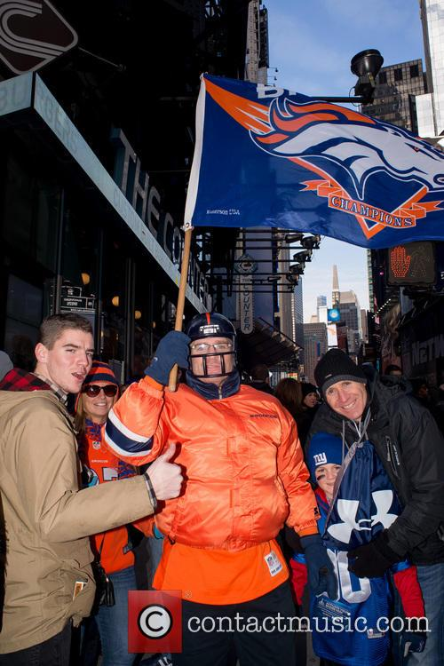 Atmosphere on Super Bowl Boulevard in Times Square
