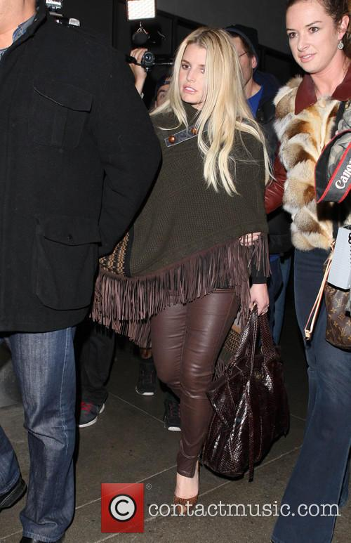 jessica simpson jessica simpson at lax 4047855