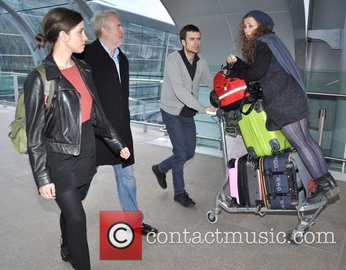 Pussy Riot band members arriving at Dublin Airport