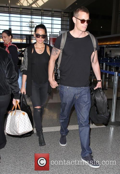 Olivia Munn and Joel Kinnaman at Los Angeles...