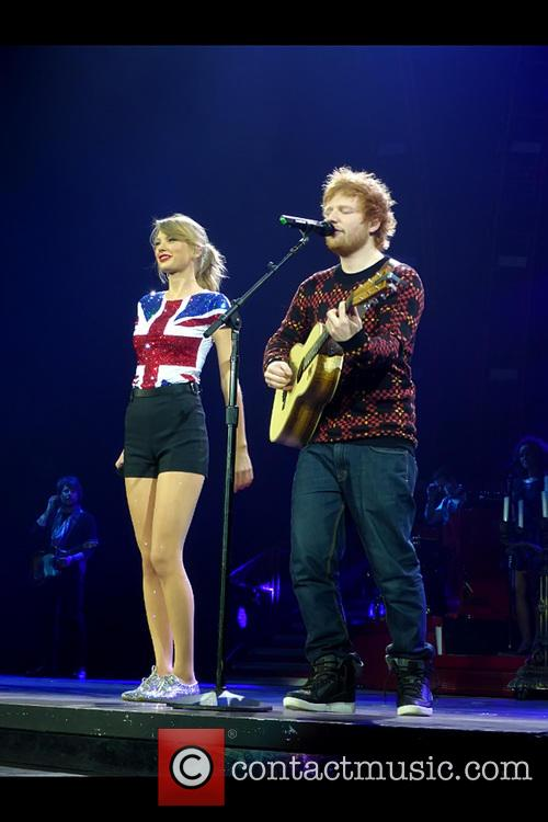 Swift was joined onstage by Ed Sheeran to perform 'Lego House'