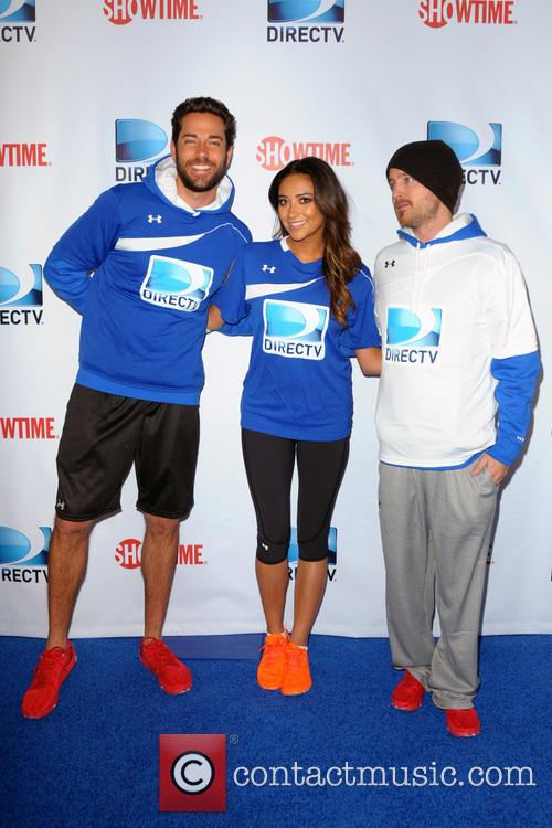 Zachary Levy, Shay Mitchell and Aaron Paul 2