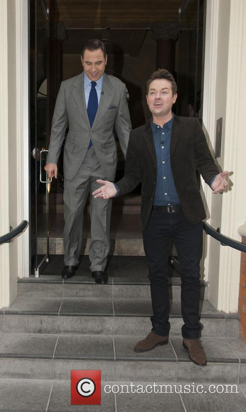 David Walliams and Stephen Mulhern leaving for Britain's...