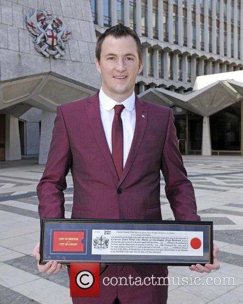 Gay soldier Lance Corporal James Wharton receives City...