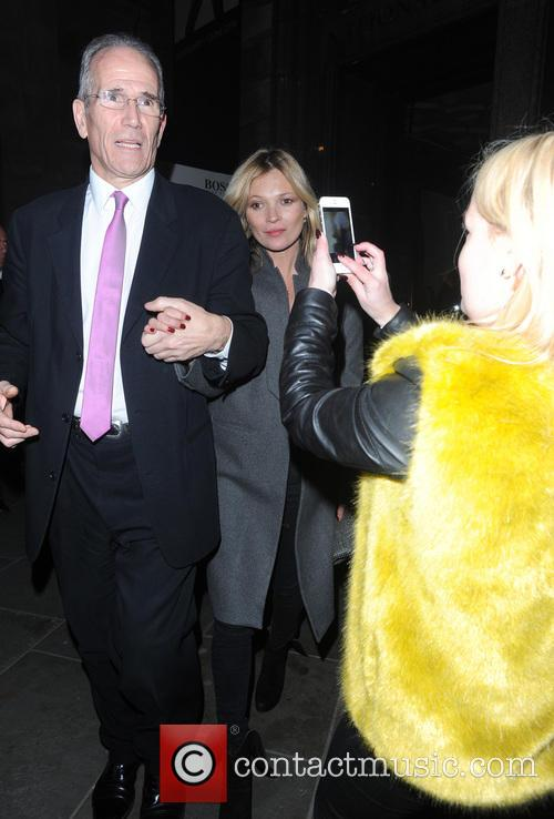 Kate Moss Leaves National Portrait Gallery