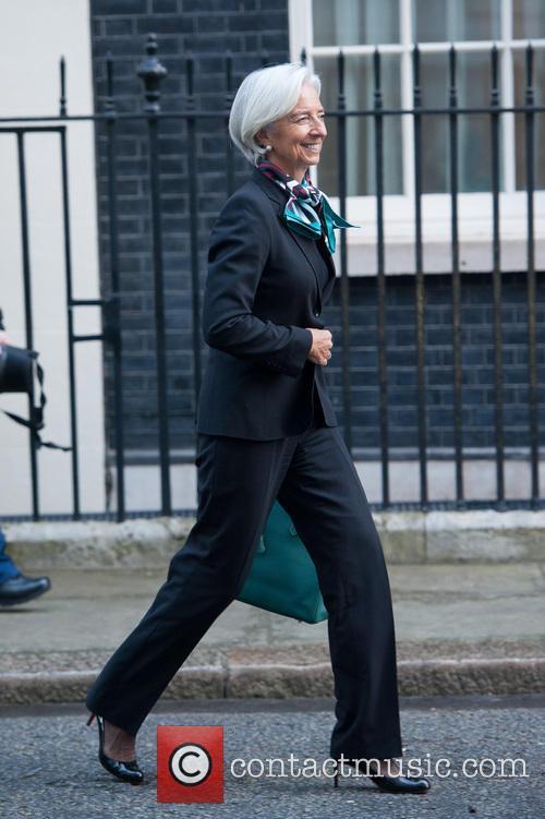 Christine Lagarde at Downing Street