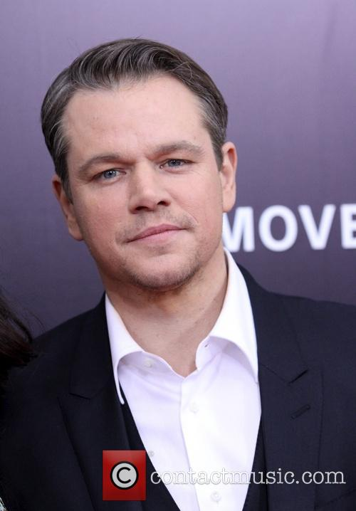 Matt Damon, The Monuments Men Premiere