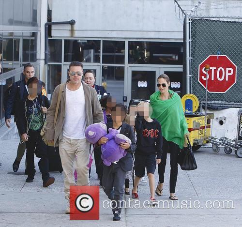 Brad Pitt And Angelina Jolie LAX