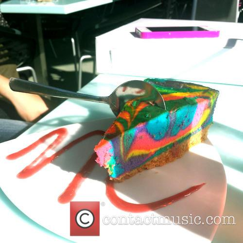 Tie Dye Cheesecake