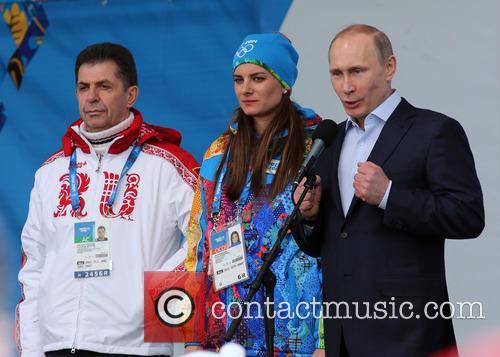 Alexander Kravtsov, Yelena Isinbayeva and Vladimir Putin 2
