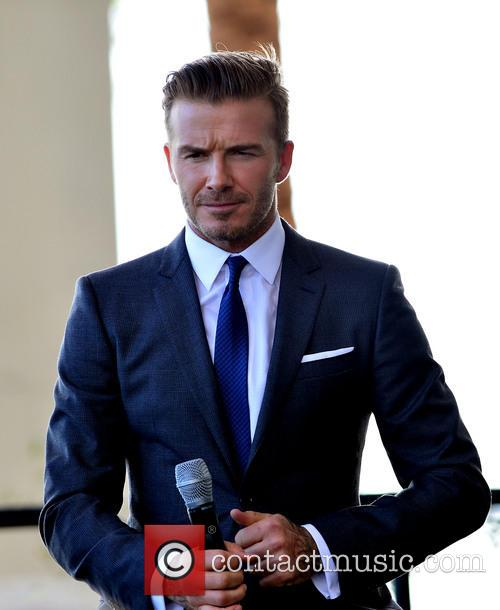 David Beckham attends a press conference to announce...