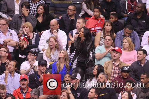 gabrielle union celebs at the clippers game 4054291