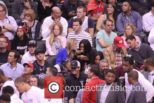 gabrielle union celebs at the clippers game 4054351