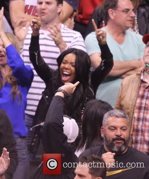 gabrielle union celebs at the clippers game 4054352