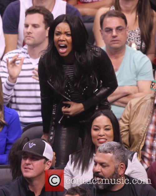 gabrielle union celebs at the clippers game 4054362