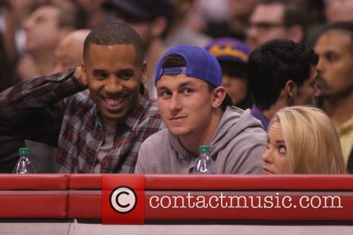johnny manzel celebs at the clippers game 4054311