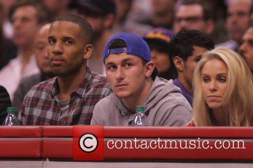 johnny manzel celebs at the clippers game 4054364
