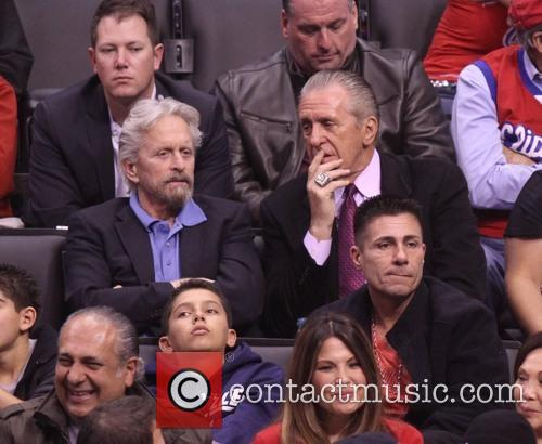 Michael Douglas and Pat Riley 4