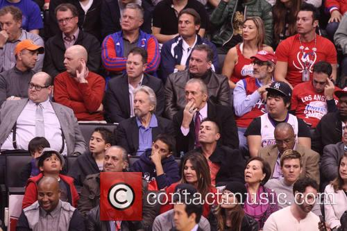 Michael Douglas and Pat Riley 8