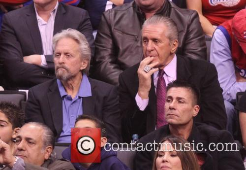 Michael Douglas and Pat Riley 10