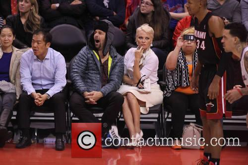 Pamela Anderson, Rick Solomon, Staples Center