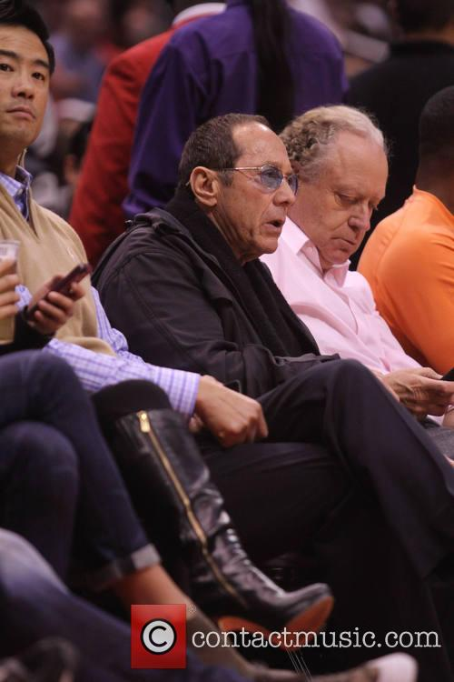 paul anka celebs at the clippers game 4054296