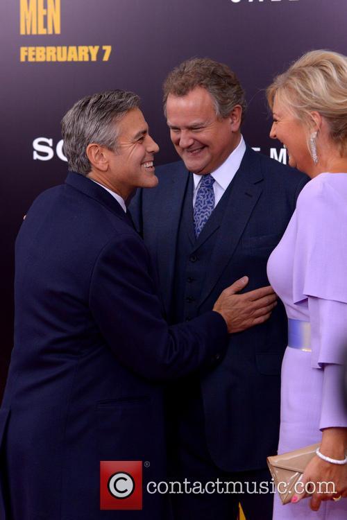 George Clooney, Hugh Bonneville and Lulu Williams 3
