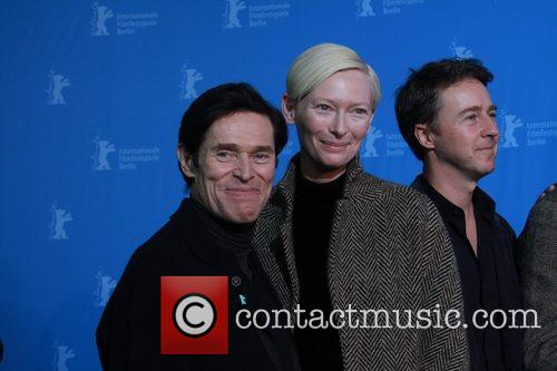 Willem Dafoe (l-r), Edward Norton, Tilda Swinton and Edward Nort 2