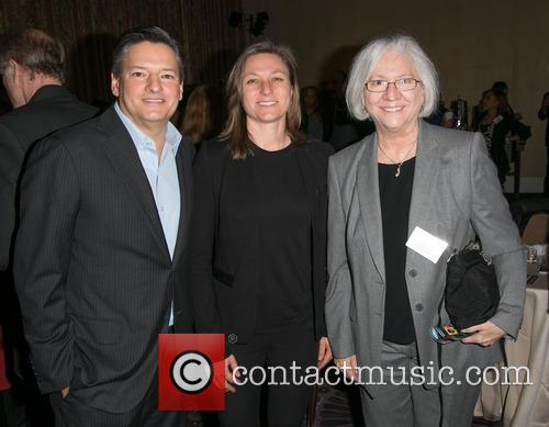 Ted Sarandos, Cindy Holland and Teri Schwartz