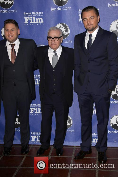Jonah Hill, Martin Scorsese and Leonardo Dicaprio