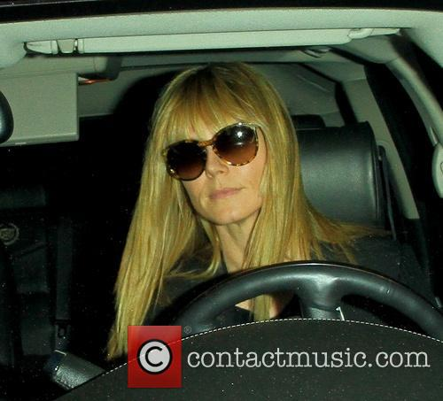 Heidi Klum departs the Andy LeCompte Salon