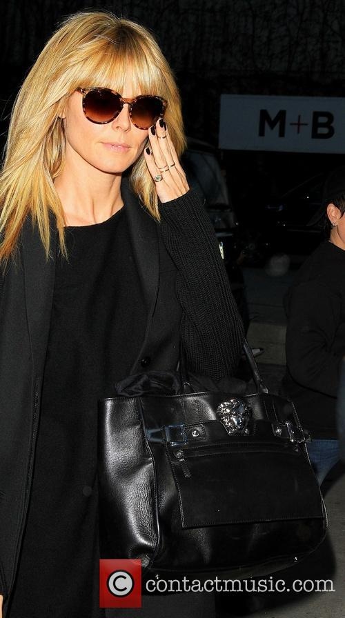 Heidi Klum departs the Andy LeCompte Salon