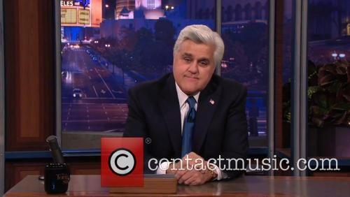 Jay Leno gives a tearful sign off as...