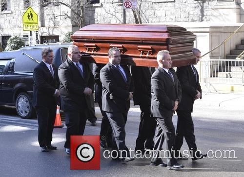 The funeral of actor Philip Seymour Hoffman held at Church of St. Ignatius Loyola