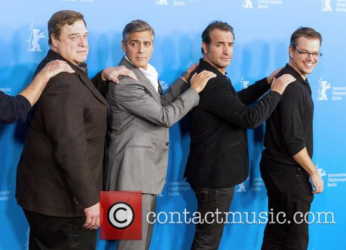 John Goodman, George Clooney, Jean Dujardin and Matt Damon 2