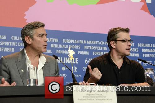 George Clooney and Matt Damon 2