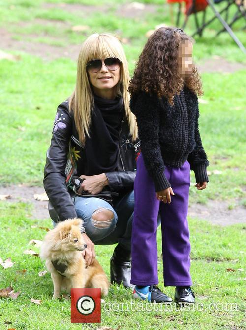 Heidi Klum, Lou Samuel and Buttercup 7