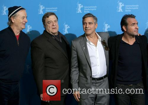 Bill Murray, George Clooney, Jean Dujardin and Matt Damon 1