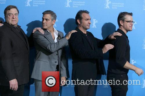 John Goodman, George Clooney, Jean Dujardin and Matt Damon 3