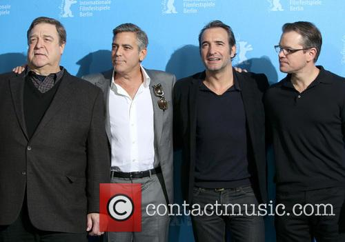 John Goodman, George Clooney, Jean Dujardin and Matt Damon 4