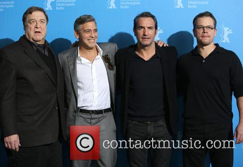 John Goodman, George Clooney, Jean Dujardin and Matt Damon 5