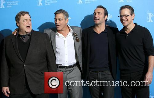 John Goodman, George Clooney, Jean Dujardin and Matt Damon 1