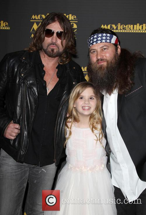 Billy Ray Cyrus, Kyla Kenedy and Willie Robertson 12