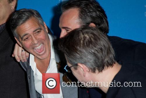 George Clooney, Jean Dujardin and Matt Damon 4