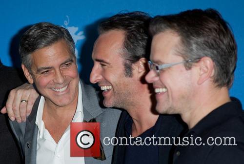 George Clooney, Jean Dujardin and Matt Damon 5