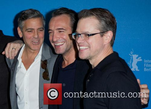 George clooney the monuments men photo call 13 for Dujardin clooney