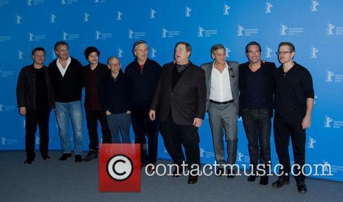 George Clooney, Matt Damon, John Goodman, Jean Dujardin, Bill Murray, Bob Balaban, Hugh Bonneville, Dimitri Leonidas and Justus Von Dohnanyi 3